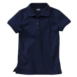 Girls navy polo shirt