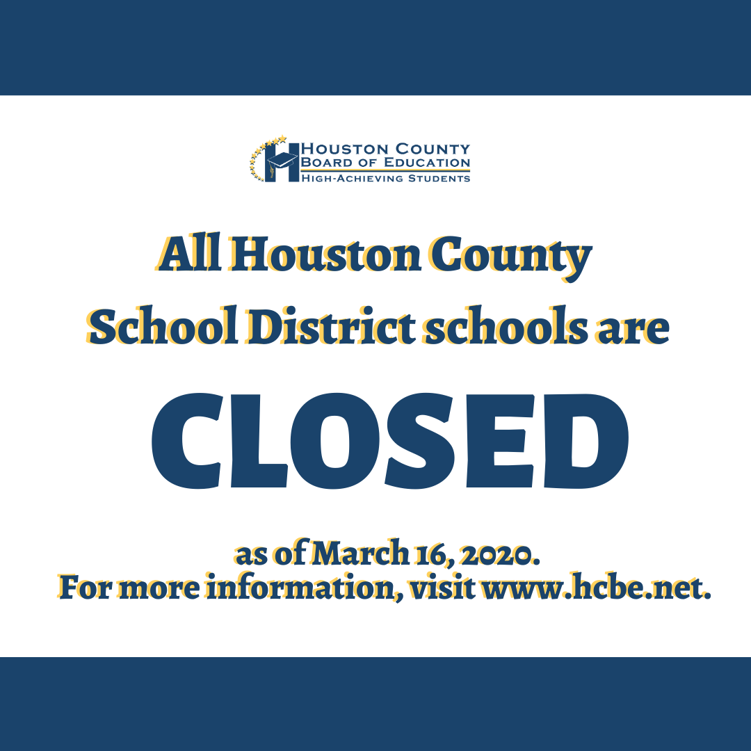 School closed as of March 16, 2020 until further notice.