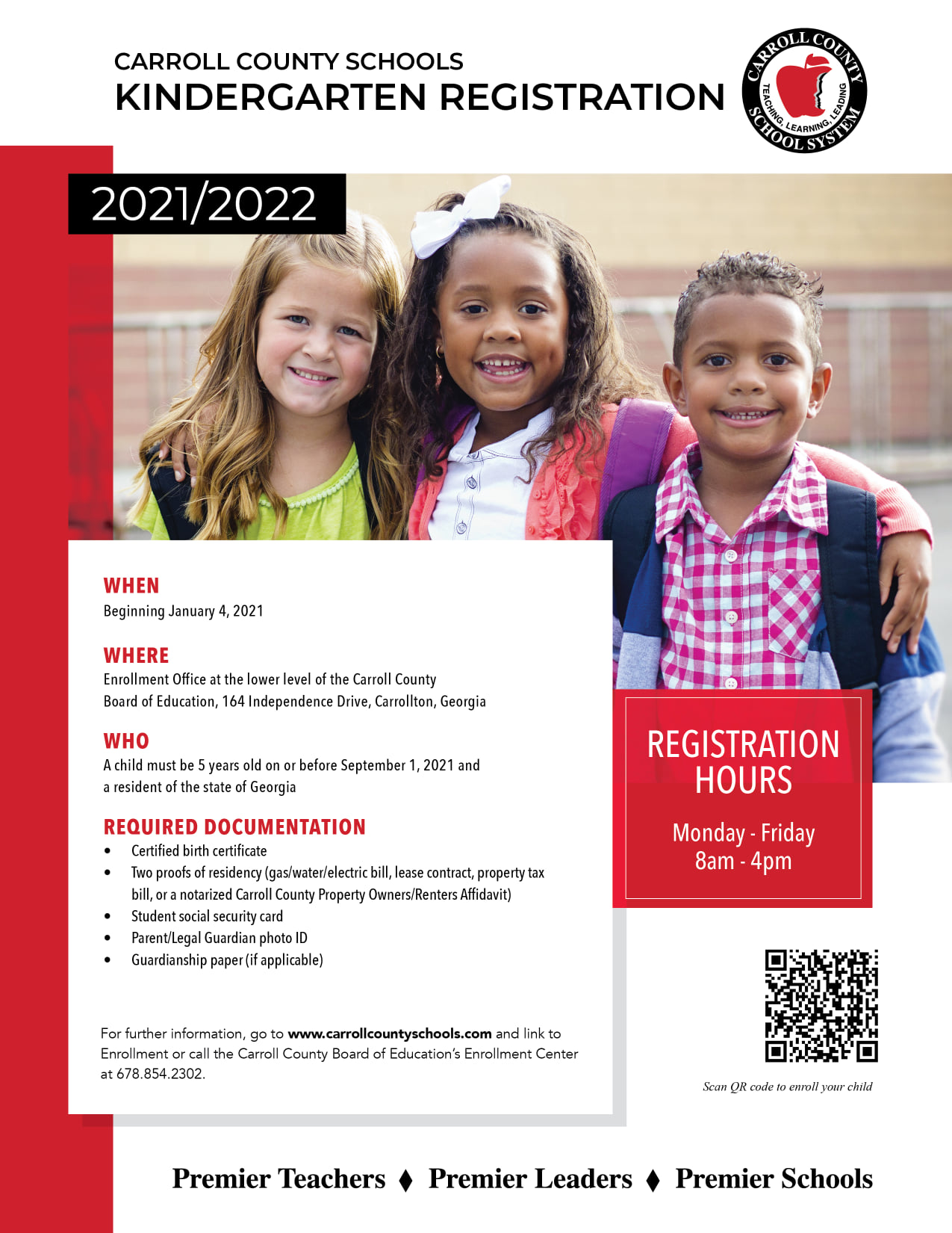 Kindergarten Registration Information 2020-2021