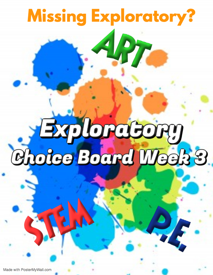 choice board exploratory pic and link