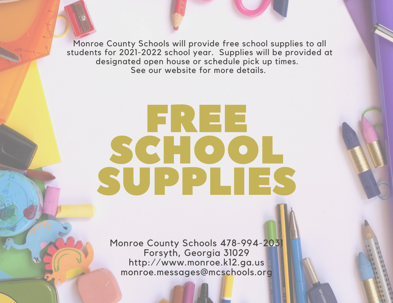 FREE School Supplies for All Students
