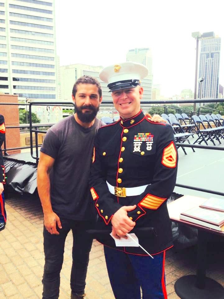 Shai LaBeouf and I on Veteran's Day in NOLA 2015