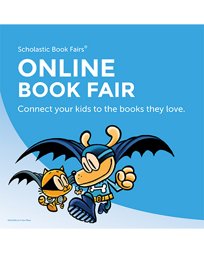 online book fair picture of Dog Man and Cat Kid
