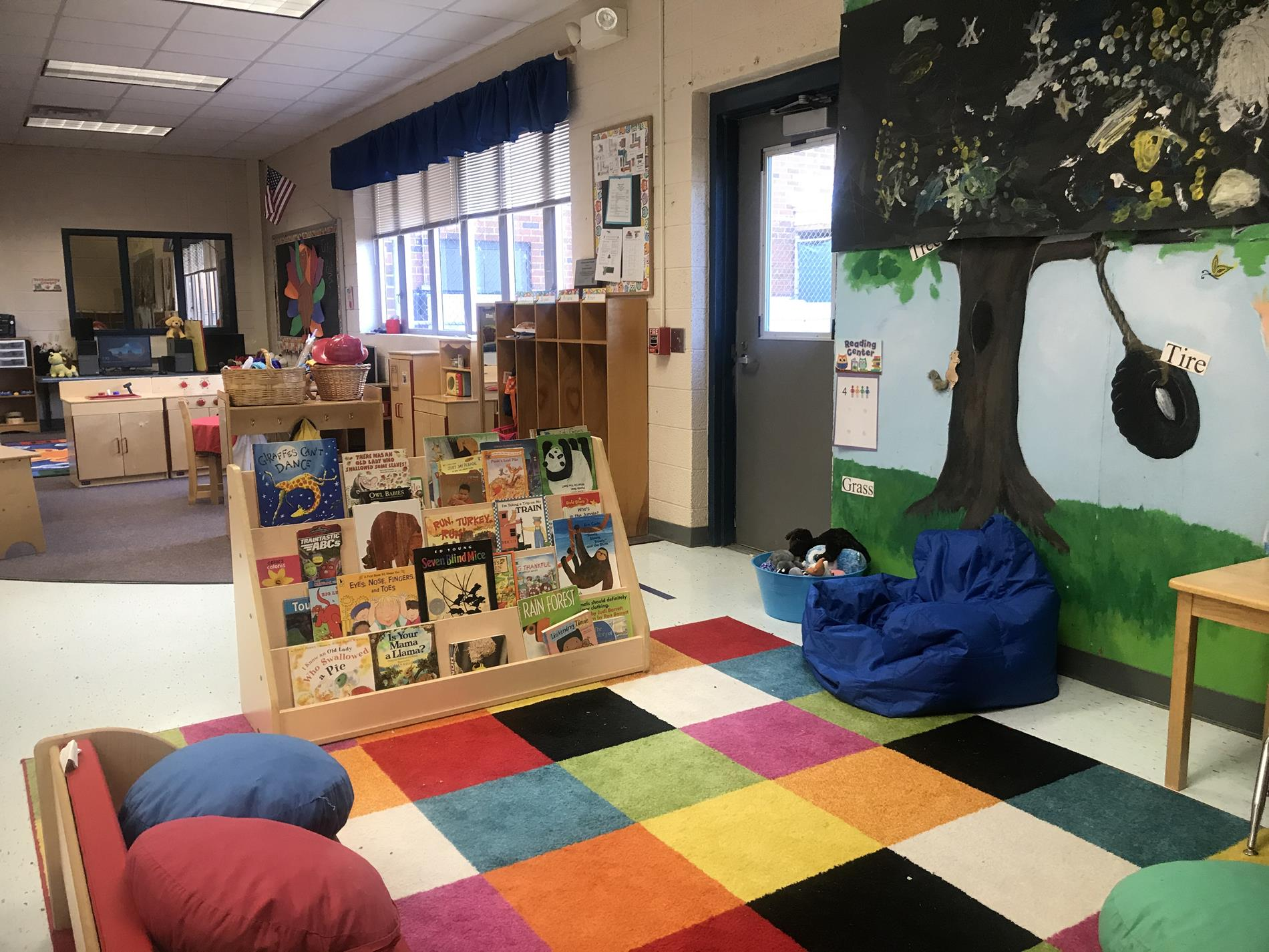 Preschool reading area