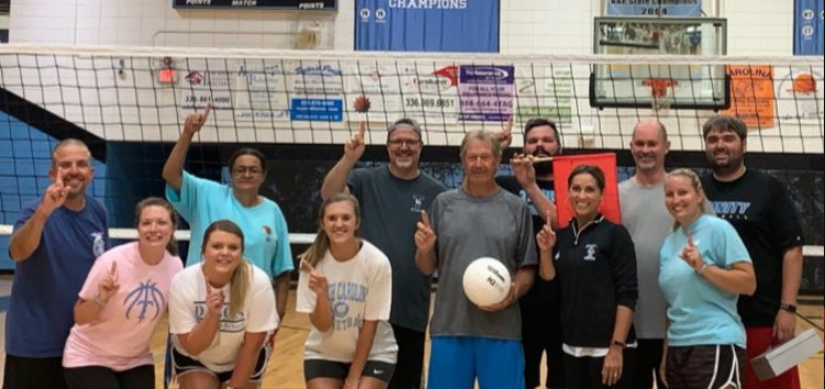 Senior vs Teachers volleyball game