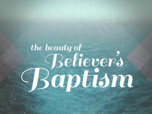 Banner on baptism