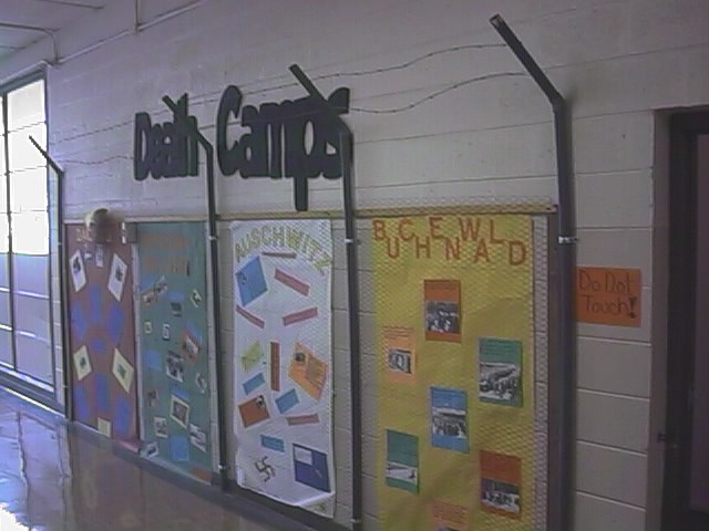 Students' display on Deathcamps