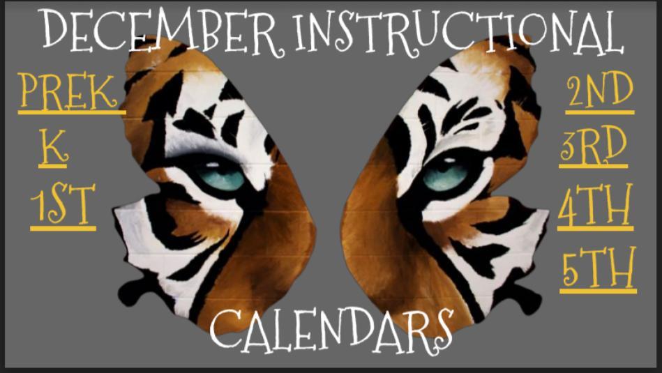 December Instructional Calendar