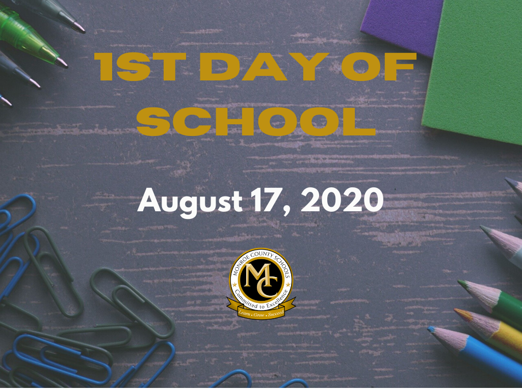 1st day of school August 17