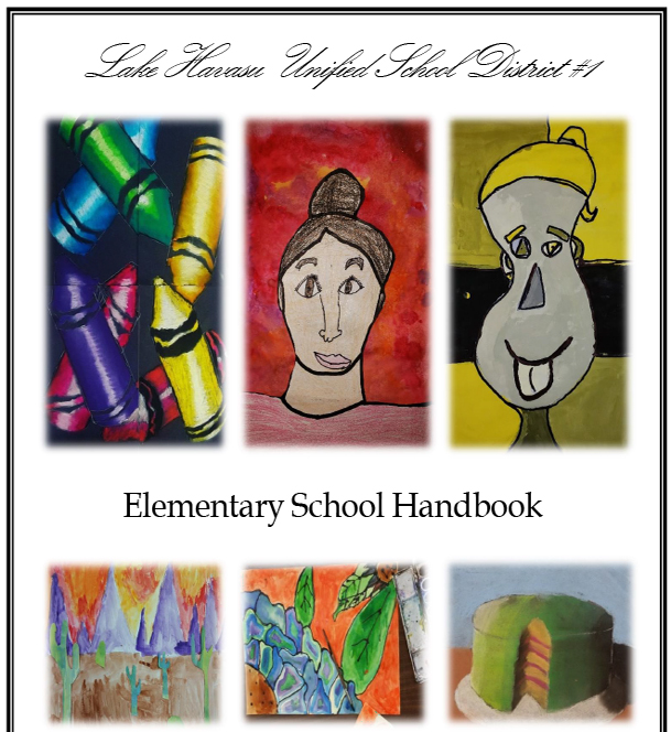 elementary handbook cover page