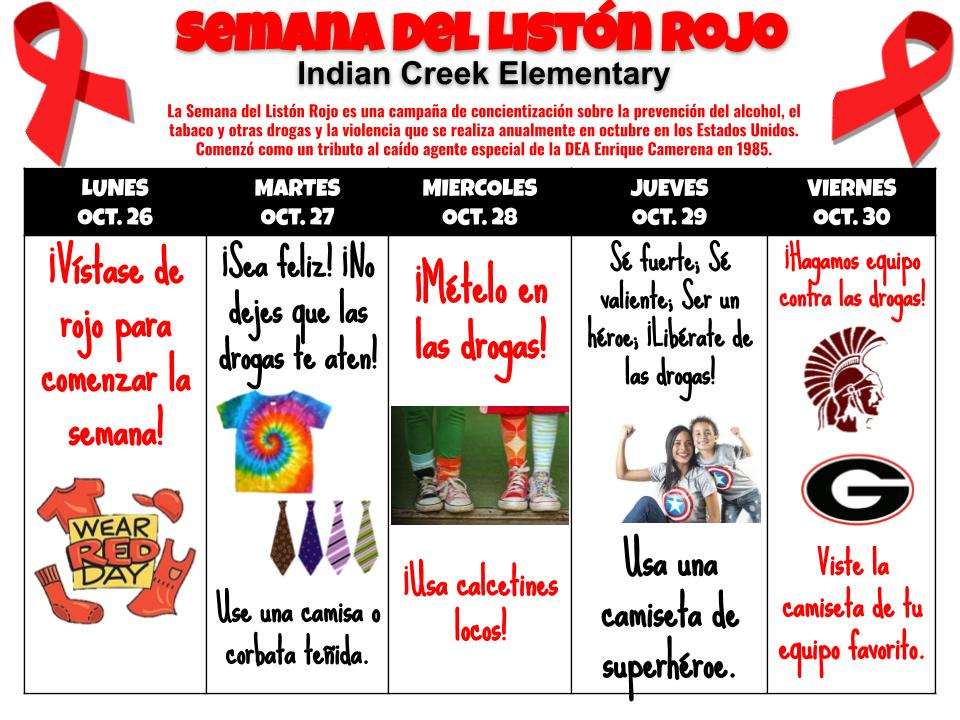 Red Ribbon Week 2020-spanish flyer