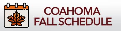 CCC Fall Schedule