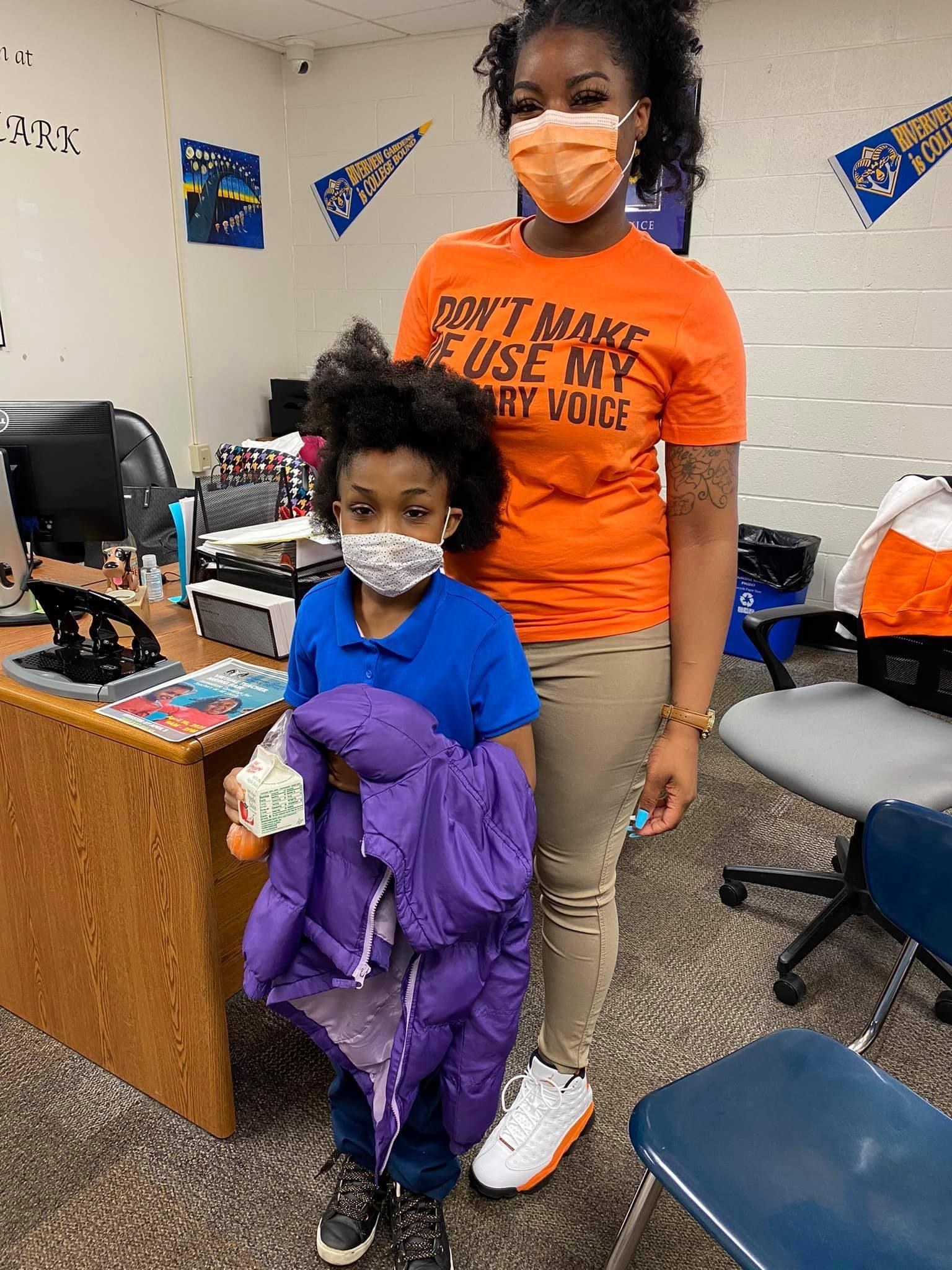 Ms. Farmer & student