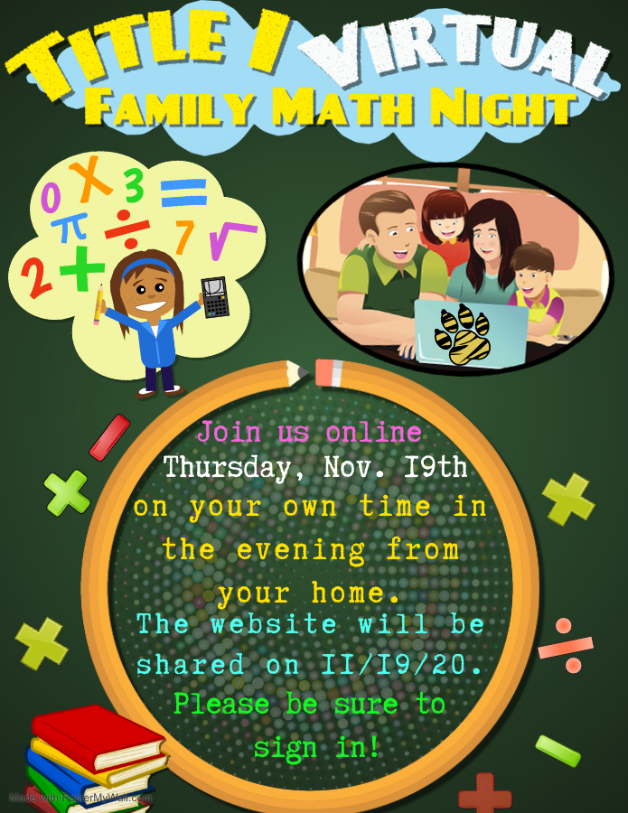 Title I Virtual Family Math Night