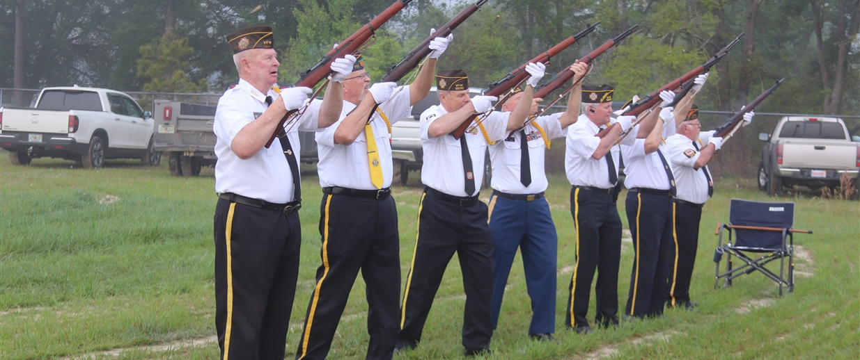 National Medal of Honor Presentation and 21 Gun Salute at WR Tolar