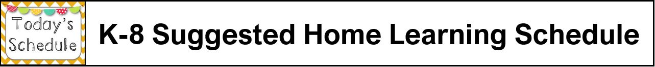 At Home Learning Schedule Logo