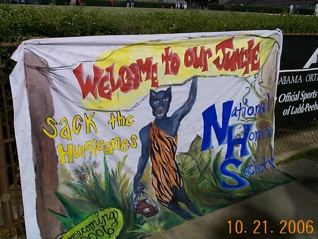 Homecoming Banner 2006 2nd Place