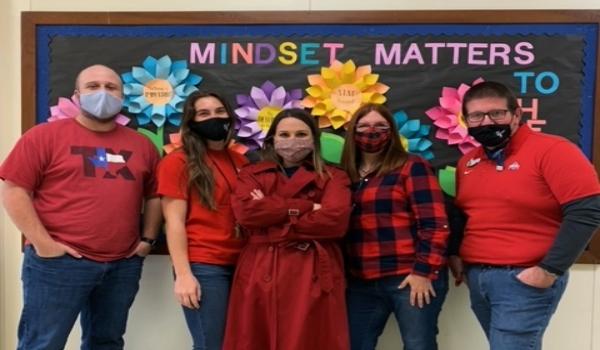 BPE Teachers Wear Red