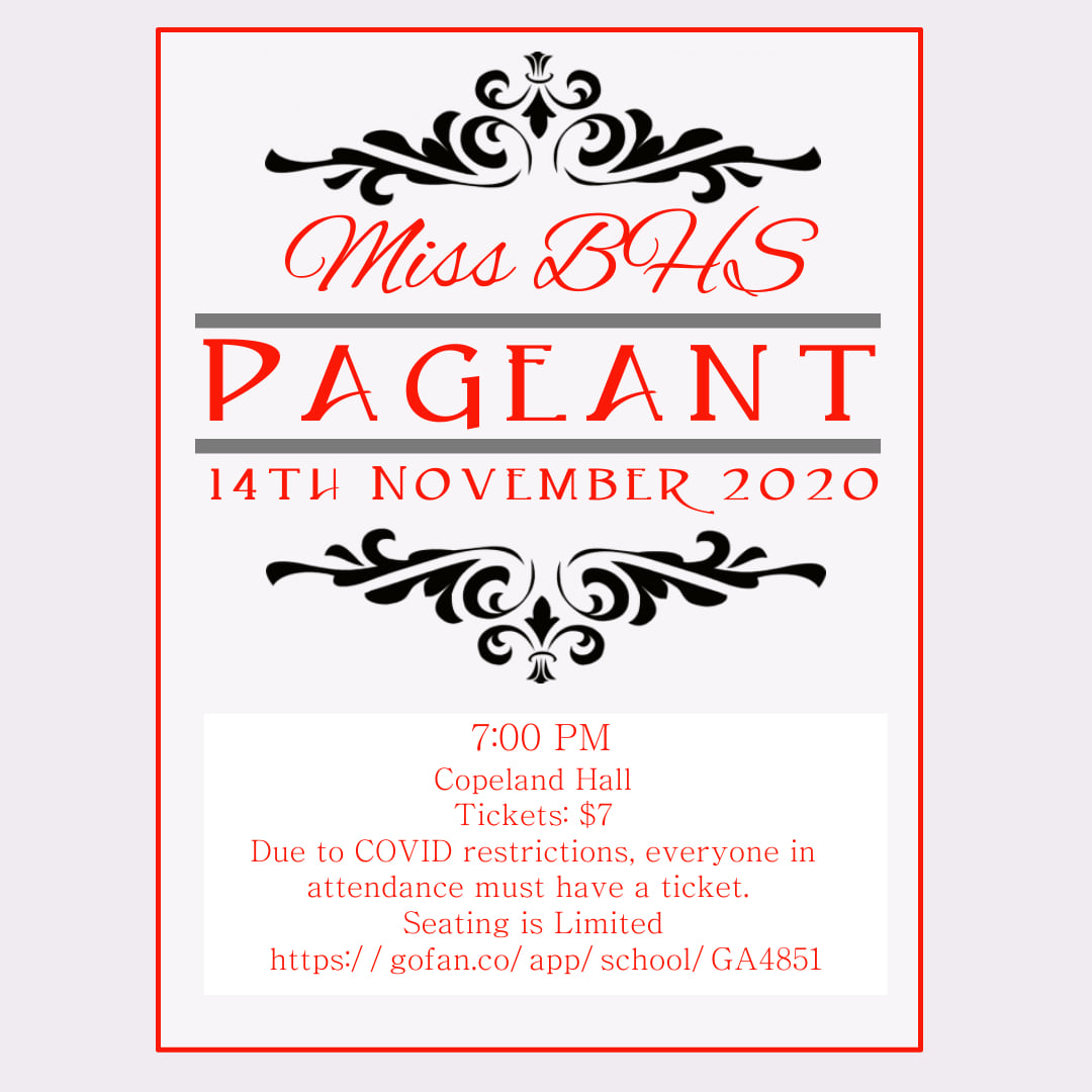 Pageant Information Flyer