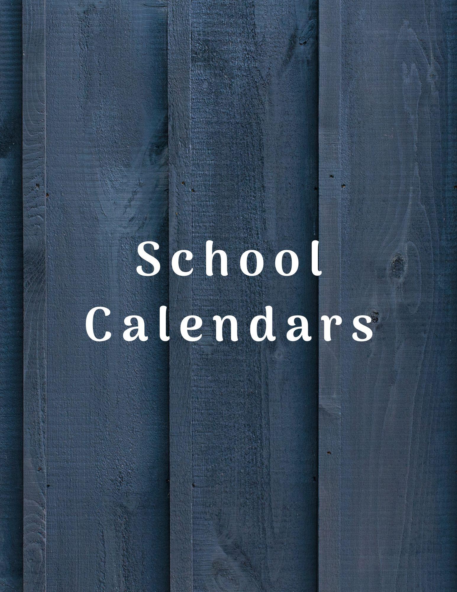 school calendrs