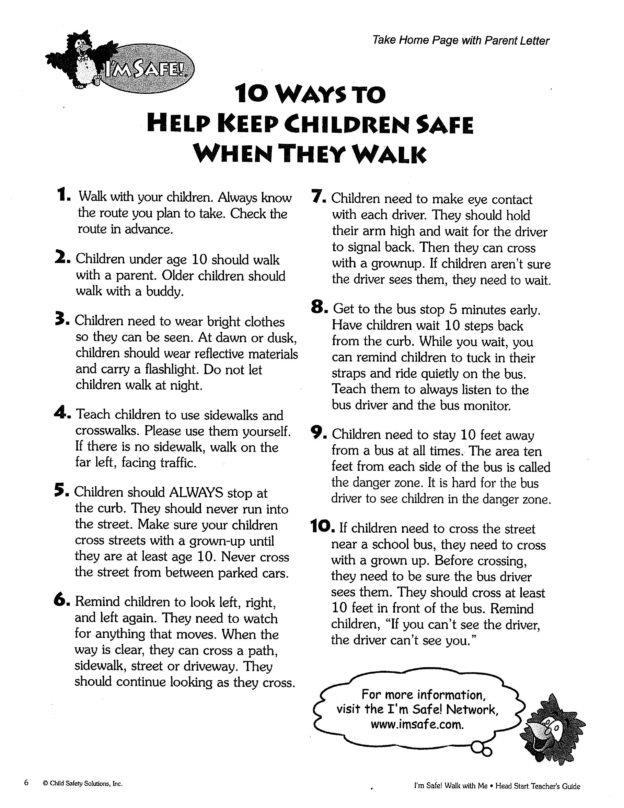 Pedestrian Safety Handout English