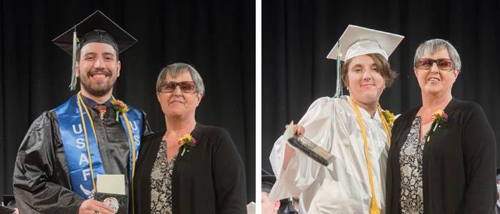 Student's receiving Raymond S. Burton Award