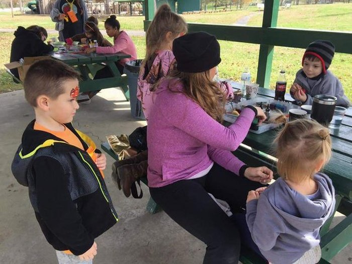 Face painting in action