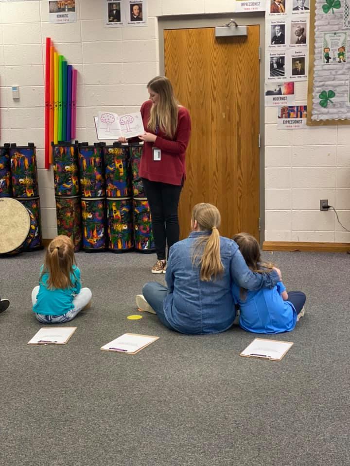 Ms. Fee loves teaching music.