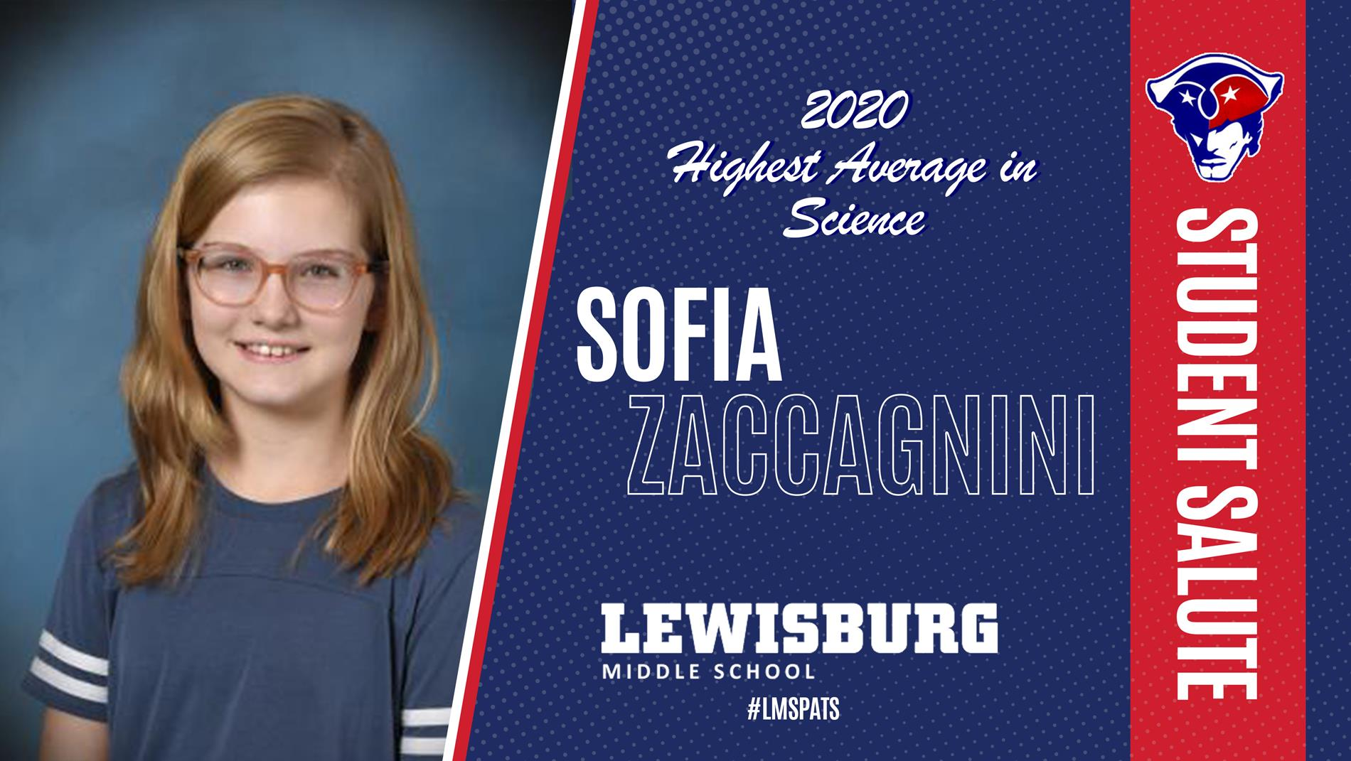 Congrats Sofia!