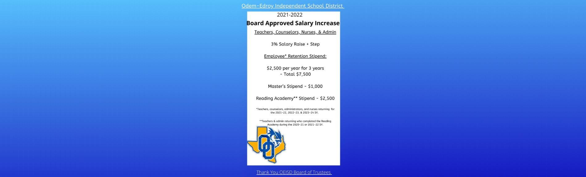 OEISD - Board Approved Salary Increase