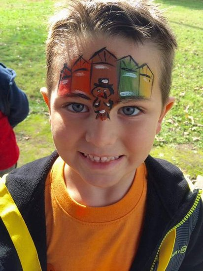 Awesome turkey face paint