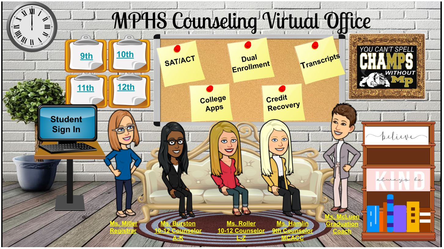Counselors' Bitmoji Classroom