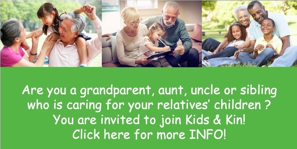 Kids and Kin (Training Dates and Help for raising your grands)