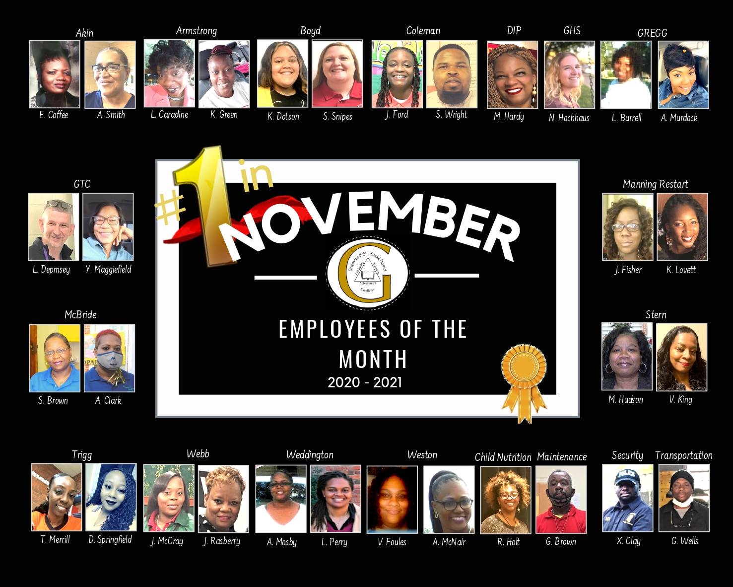 November Employees of the Month