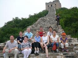 Great Wall visit by DBU team led by Ann Boyles