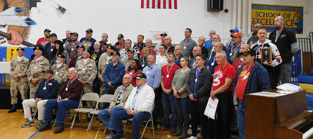Group picture of Veterans who attend