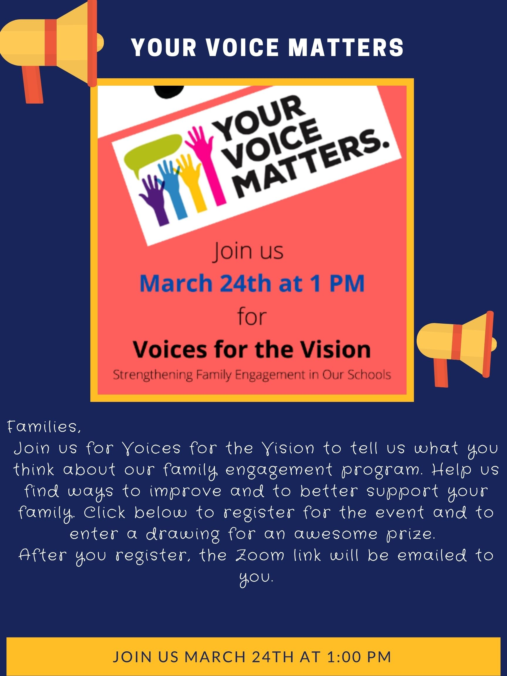 Your Voice Matters Parent Engagement Event