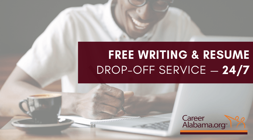Free writing and resume drop-off service 24/7