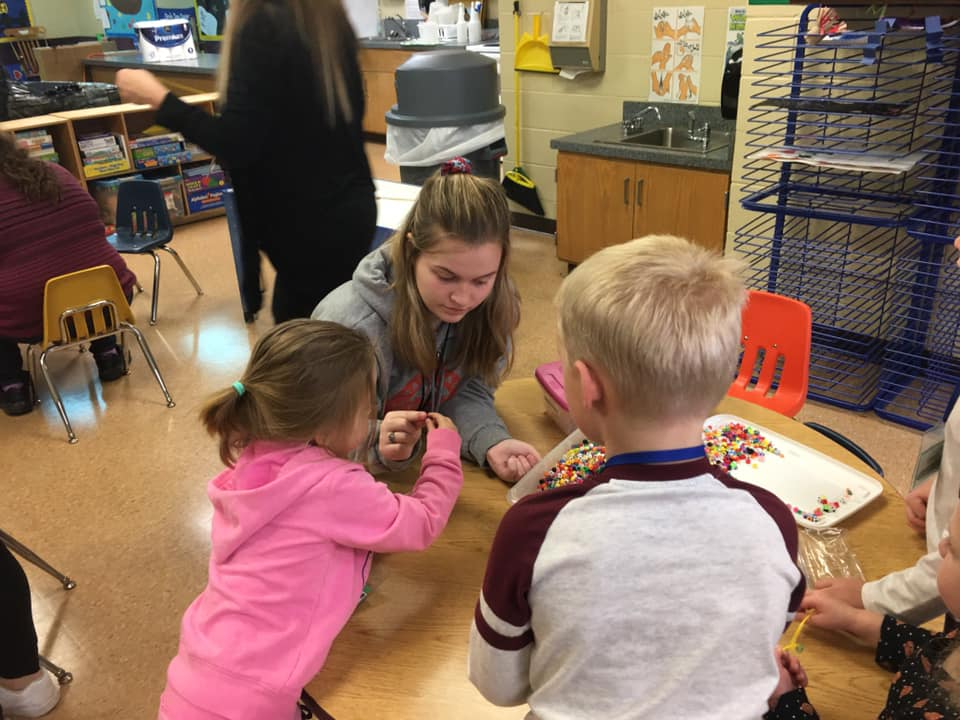 Kids' World Preschool is in session 3 days a week, providing an opportunity for work experience.
