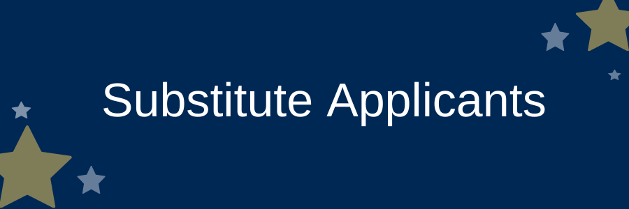 Substitute Applicants information