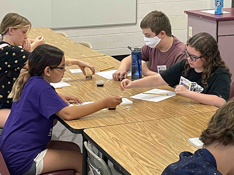 Students work on projects at STEM Academy