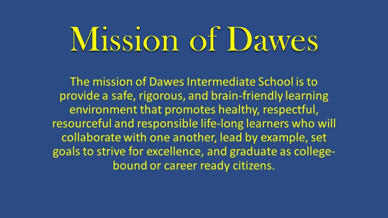 Mission of Dawes Intermediate School
