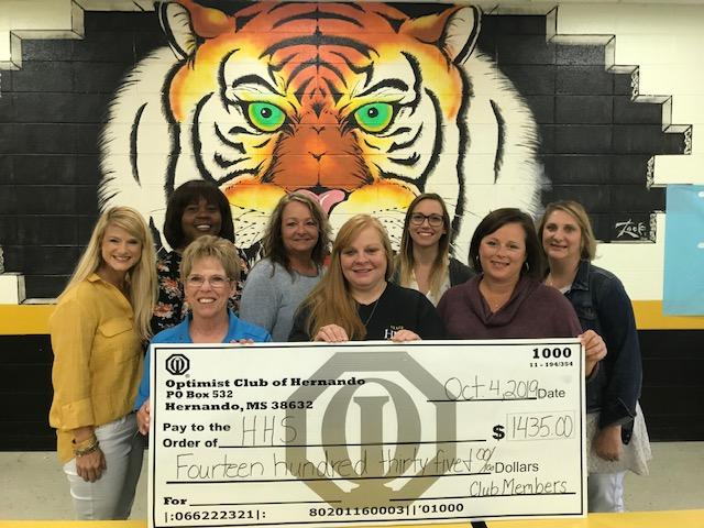 Optimist Club Donation to HHS
