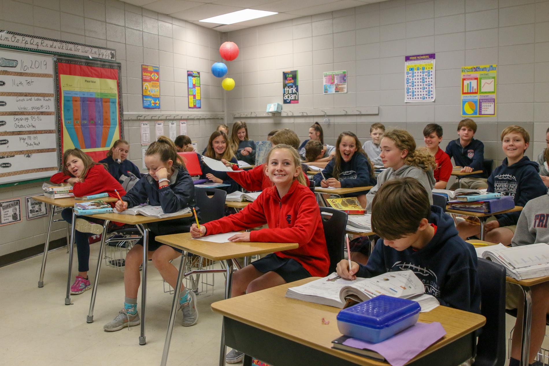 Students in Desk
