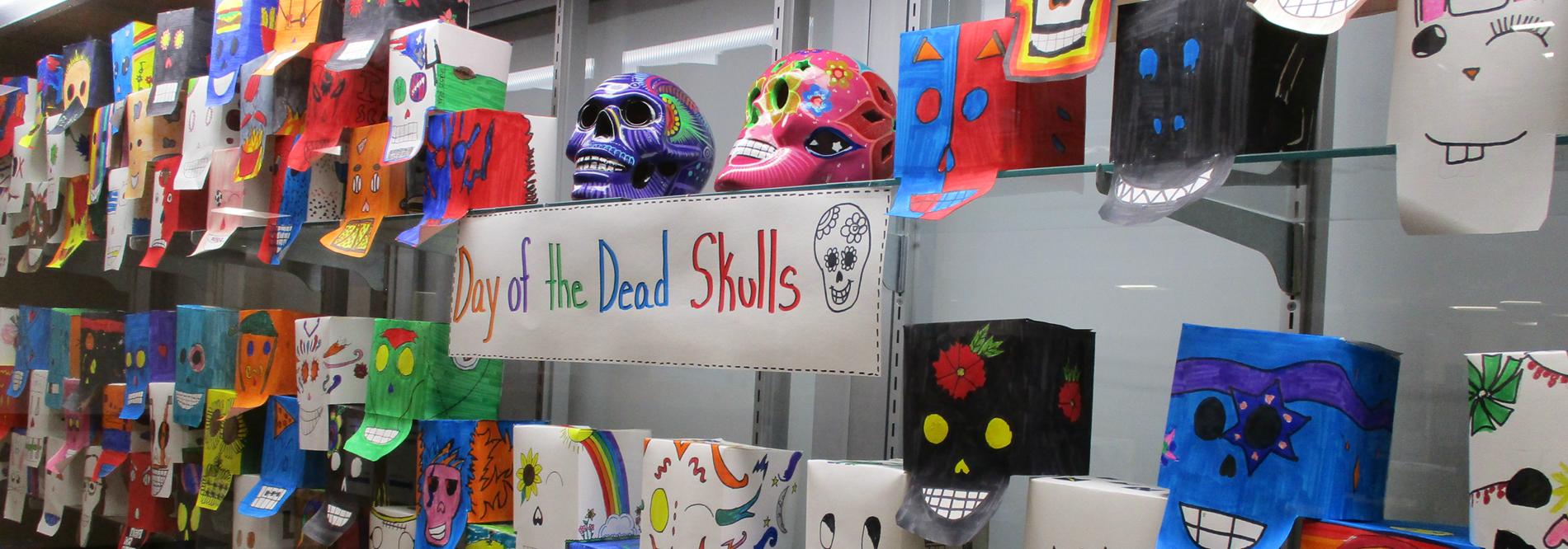 Moser Fall Student Artwork - Day of the Dead Skulls