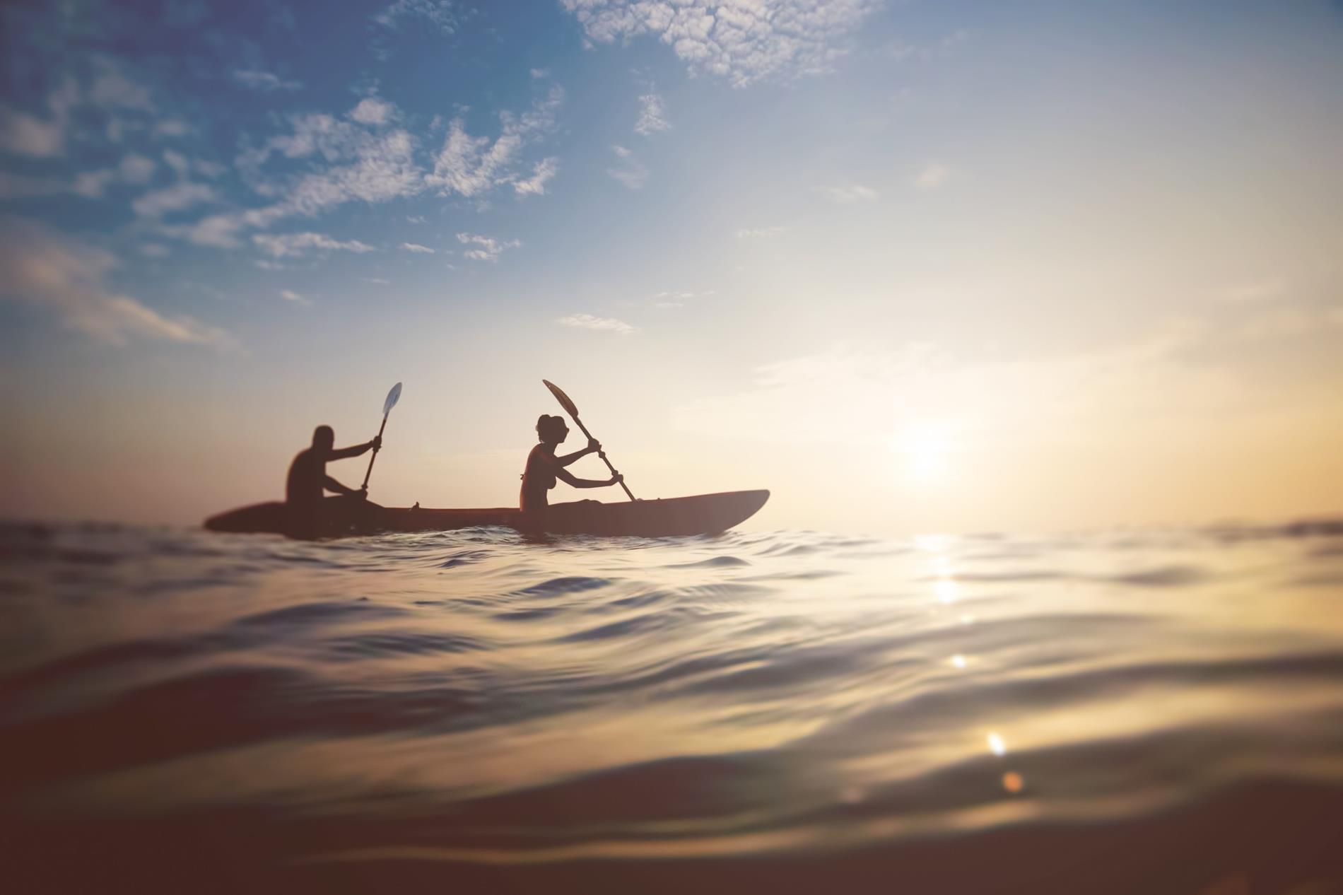 kayakers on lake powell