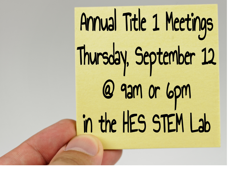 Annual Title 1 Meeting Y20