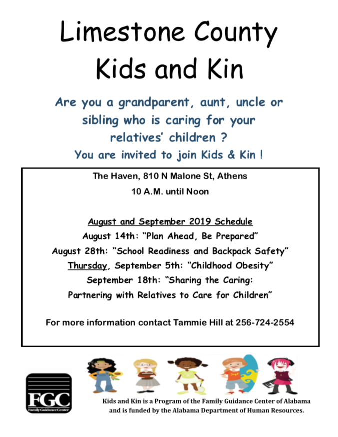 Kids and Kin Training Opportunities (FREE)