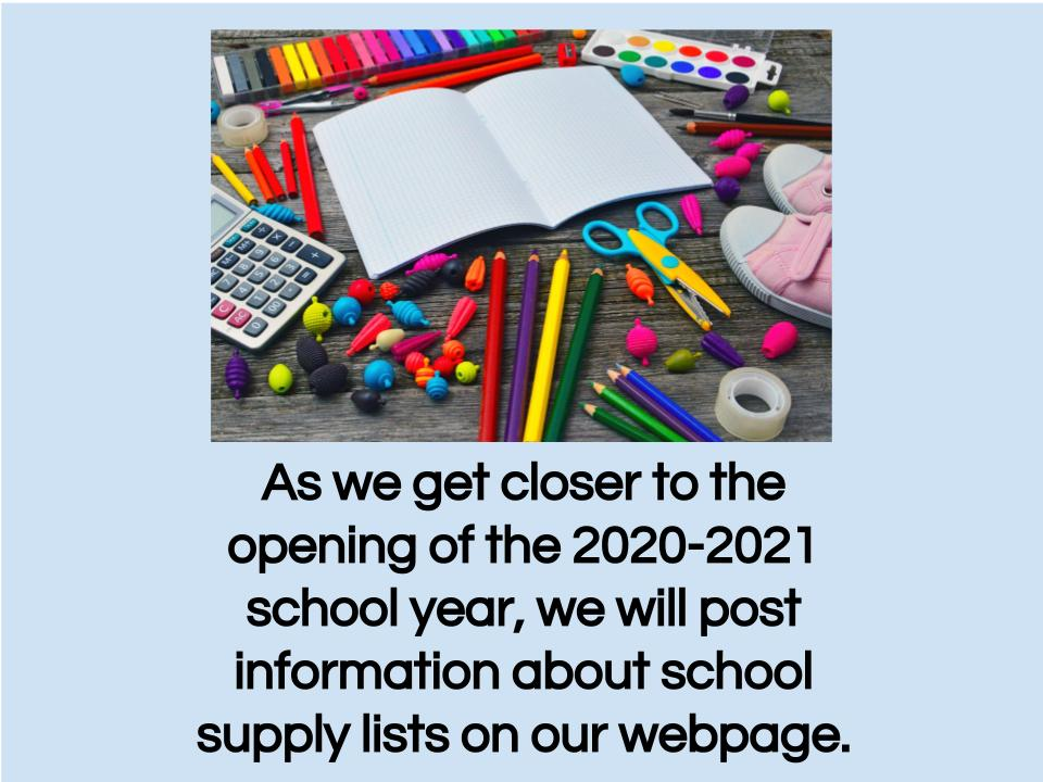 School Supply Information