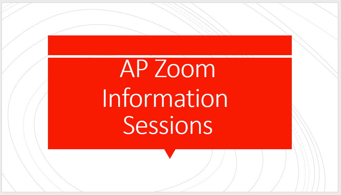AP Zoom Information Sessions